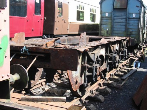 Tender chassis before start of  restoration - Photo - the late Tony Wray.