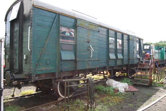 PMV No.1153 seen prior to purchase at the Great  Central Railway (North)